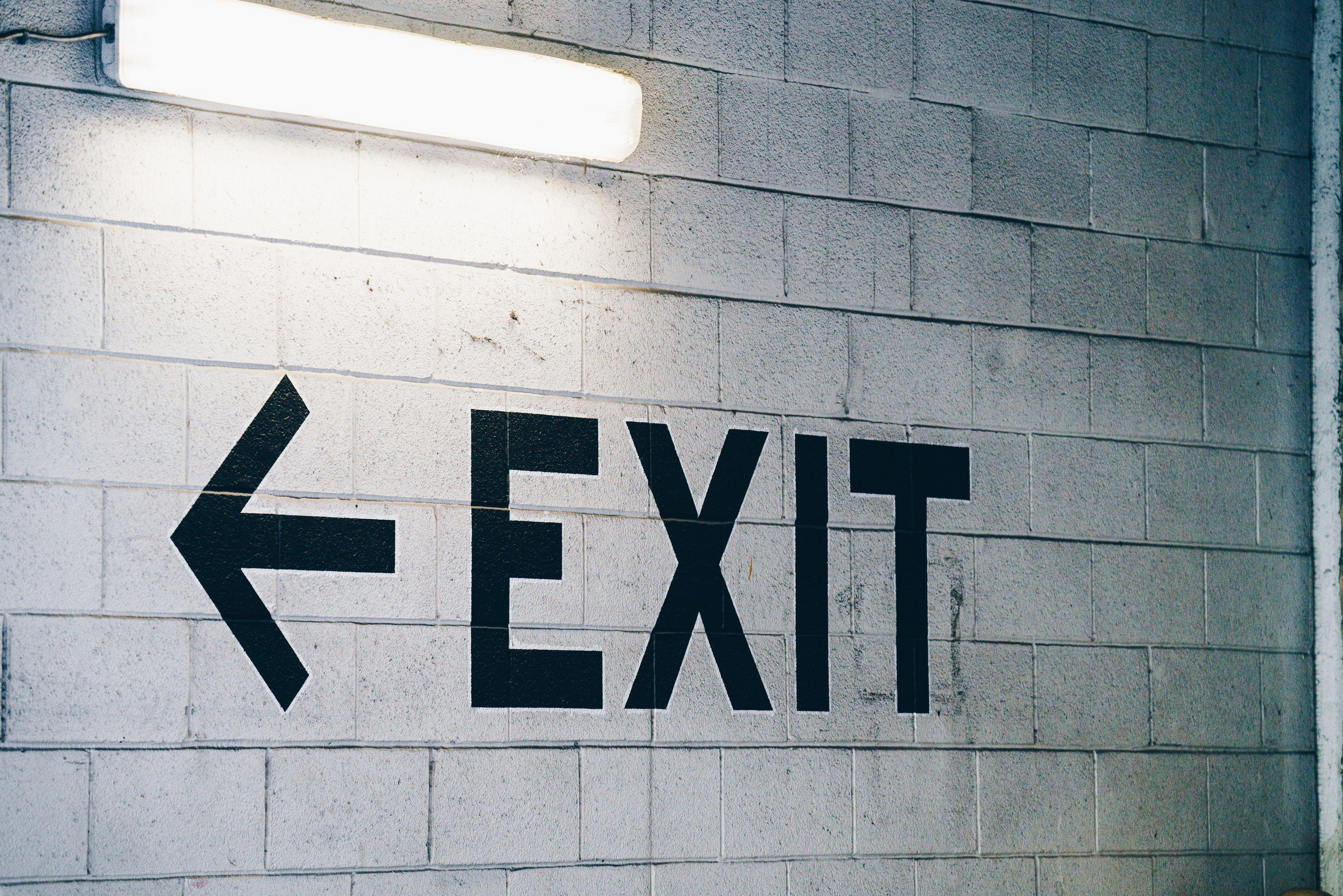 Exit sign churn